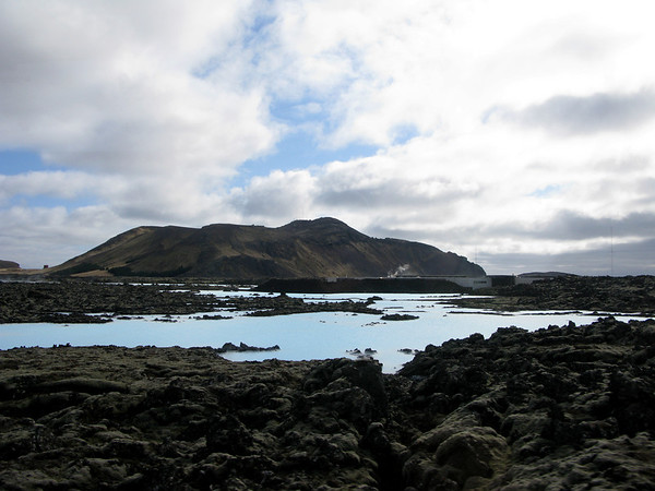 Outside the Blue Lagoon in Iceland