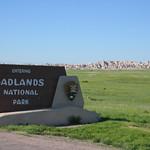 Welcome to Badlands Nation Park sign - South Dakota