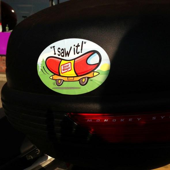 i saw it wienermobile sticker