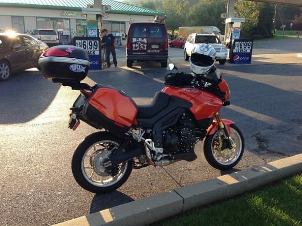 My bike before lift off