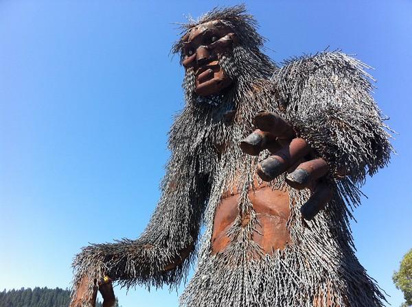 happy camp bigfoot statue