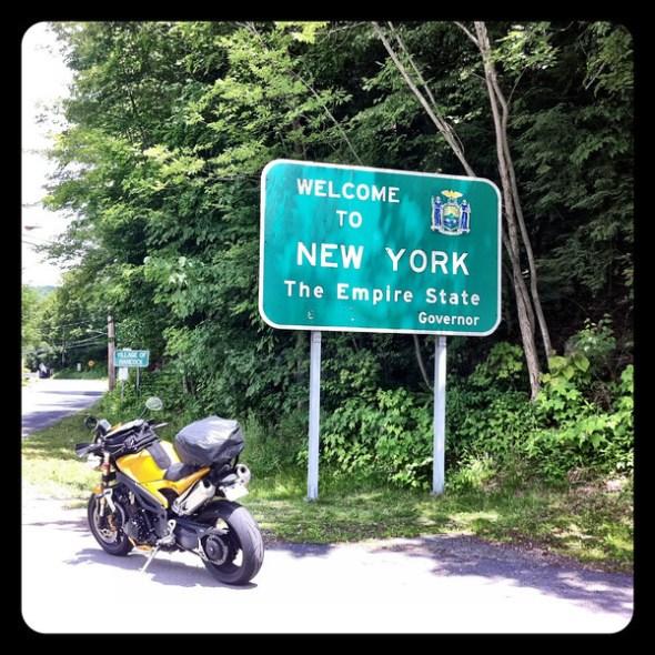 Welcome to New York sign - Hancock New York