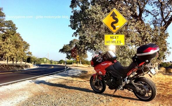 Winding Road Next 140 Miles