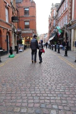 Love walking on cobbled streets.