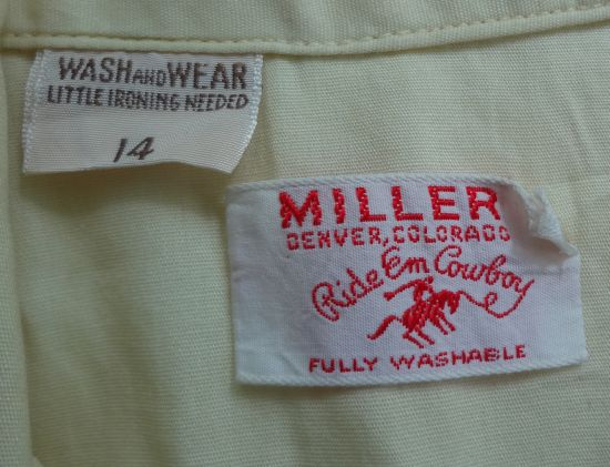 According to my tips. Vintage Clothing Label #10: ODD NUMBER SIZES.