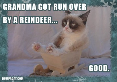 grumpy-cat-christmas-grandma-got-run-over-by-a-reindeer-good1
