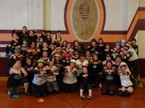 Most of the Storm City Roller Girls!