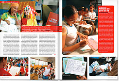 This publication highlights project activities that linked reading and theater in 84 Brazilian schools