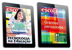 Reissue of Grande Pensadores (Great Thinkers) in digital format, and the Guia de Tecnologia na Educação (Technology in Education Guide)
