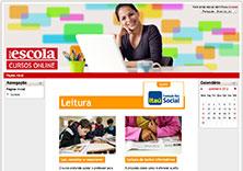 Página inicial dos cursos online de Leitura, patrocinados pela Fundação Itaú Social