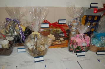 Some of the many silent auction items.