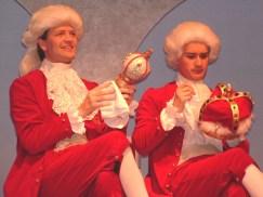 Marco (Angus Stuart) and Giuseppe (Dann Wilhelm) enjoy their time as joint kings of Barataria.