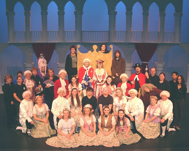 The cast and crew of The Gondoliers.