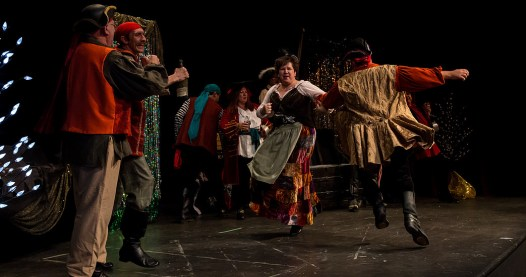 """Pour Oh Pour: The cast of """"The Pirates of Penzance"""" perform at the 2015 Community Theatre Coalition Awards show."""