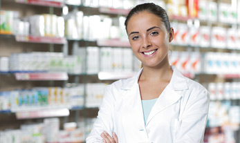 Pharmacy technician woman