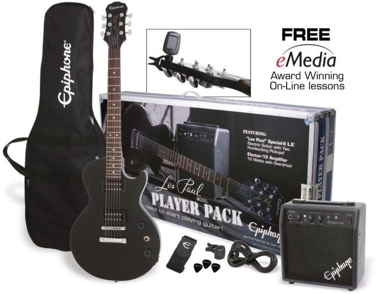 Electric Guitar Starter Kit - Epiphone Les Paul Electric Guitar Player Pack