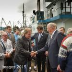 HM King Harald V of Norway Visit to Pacific Fisherman