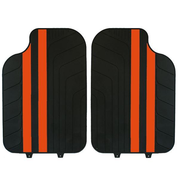 tapis voiture universel pvc bandes orange