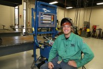 Welding student Kobi Langenhuizen showed us how the Miller ® LiveArc ™ Workstation enhances training.