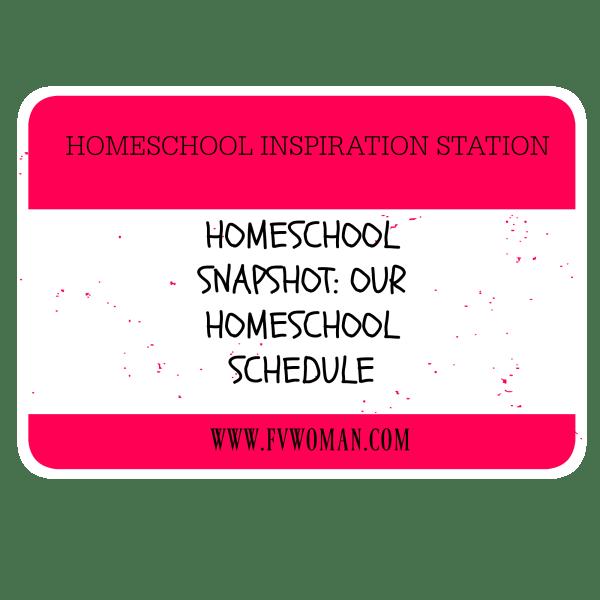 Our homeschool schedule