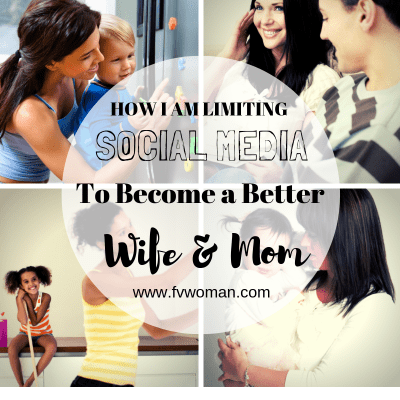How I'm Limiting Social Media to Be a Better Wife and Mom