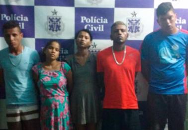 Um dos suspeitos revelou que há outros integrantes na quadrilha - Foto: Divulgação | SSP-BA