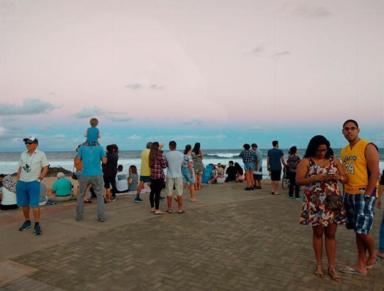O Farol da Barra foi um dos locais em Salvador escolhido para contemplar o evento (Foto: Adilton Venegeroles l Ag. A TARDE)