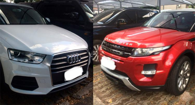 Dois carros de luxo foram apreendidos