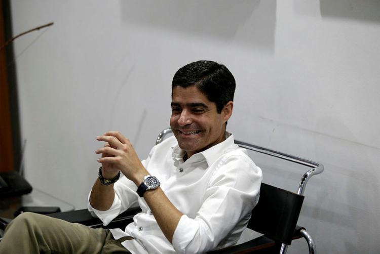 Prefeito durante visita à sede do Jornal A TARDE (Foto: Adilton Venegeroles l Ag. A TARDE)
