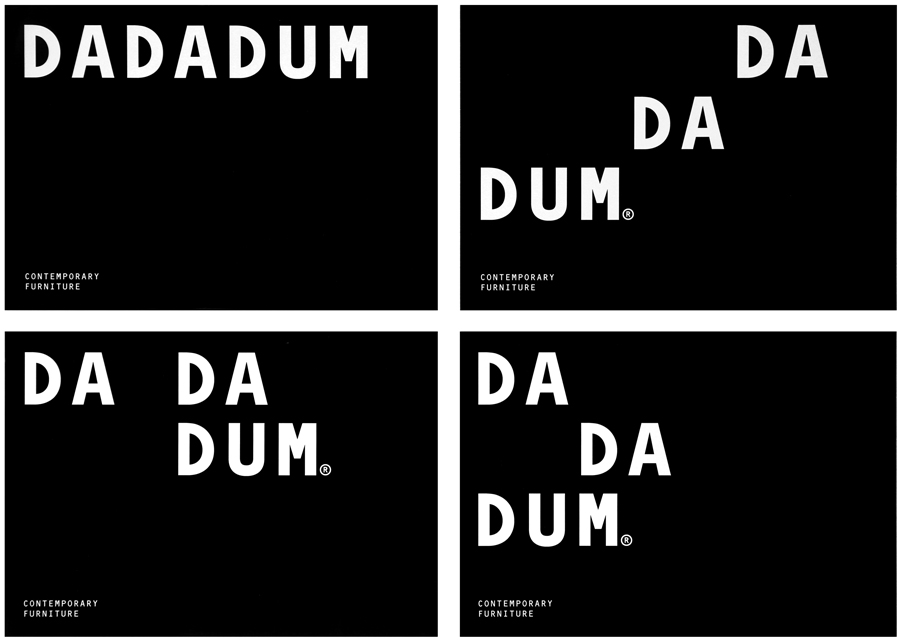 Logotype and typography created by Demian Conrad Design for Swiss contemporary furniture design and manufacturer Dadadum