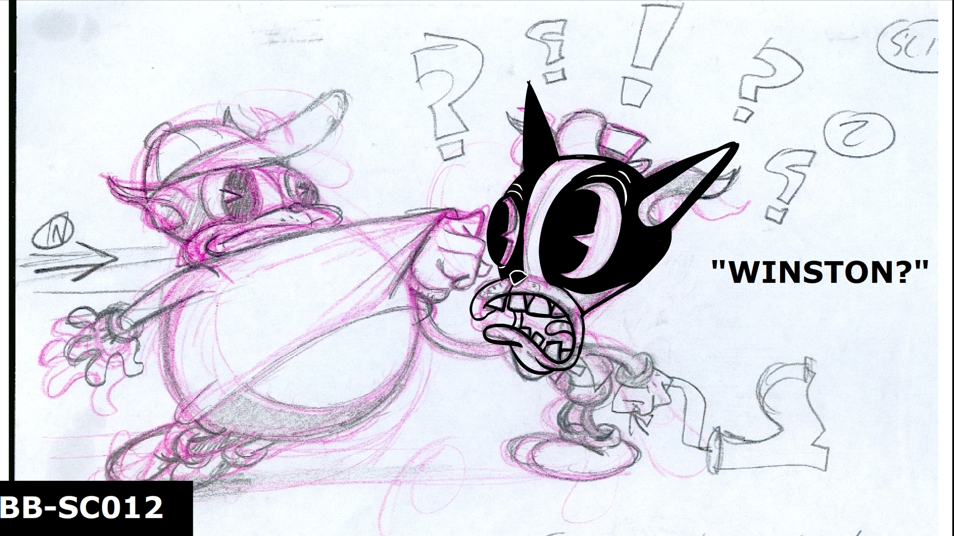Original layout for the animatic
