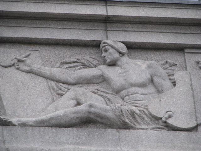 "MFA Evans Wing Granite Relief ""Painting,"" 1914"