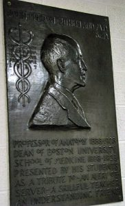 Dean Sutherland, BU Medical School, Bronze, F.W.Allen, Sculptor, 1937