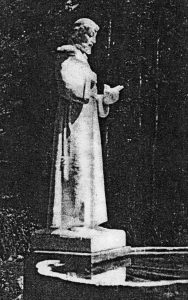 St. Francis in the Garden at Merrywood, Marlborough, NH, Frederick W. Allen, Sculptor, abt 1930