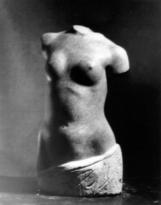 "Torso in Green Granite, 22.5"" H, F.W.Allen, Sculptor, 1938"