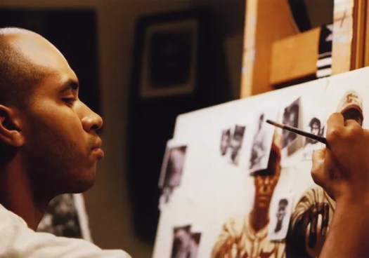 """Kadir Nelson creating work for """"We are the Ship"""""""