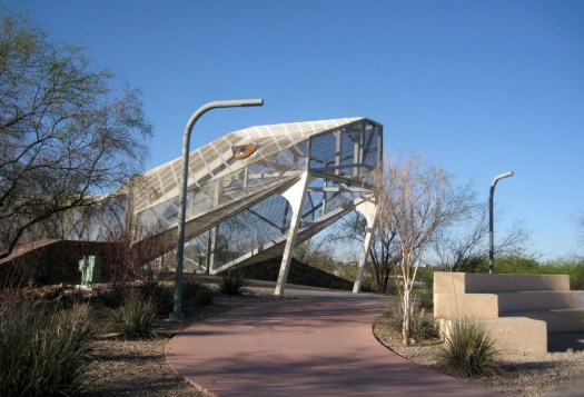 The Head of Simon Donovan's Diamondback Snake Bridge in Tuscon, Arizona