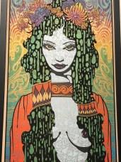 Chuck Sperry, American. Siren. Silkscreen on oak panel, 7 layers, 2018. Courtesy of the Artist.