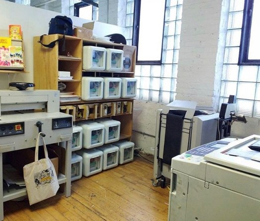 A photo of a printing shop.