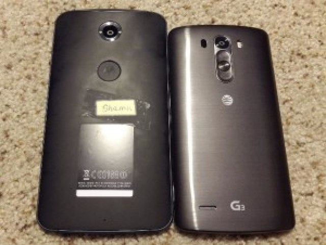 Nexus 6 X Motorola Shamu Leak vs LG G3 Comparison.