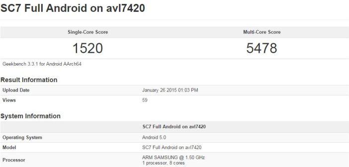 Galaxy S6 geekbench