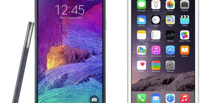 note 4 vs iphone 6 plus