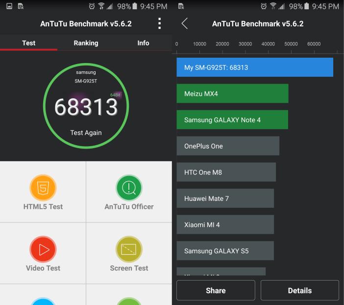 Galaxy S6 edge benchmark