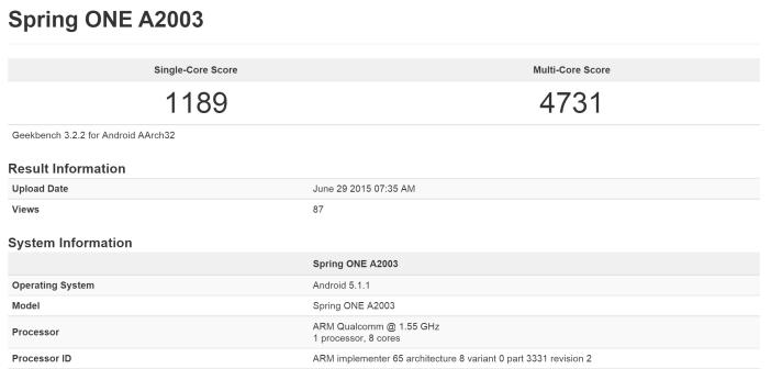 OnePlus 2 GeekBench3