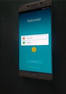 Samsung Note 5 start menu