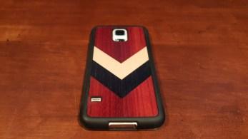 Carved Travel Wood Case S5 back