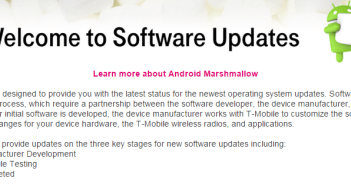 T-Mobile Android Marshmallow software updates