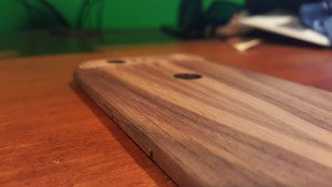 Nexus 6P Toast wooden cover button view