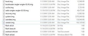 Nexus 6P Factory Images list extracted