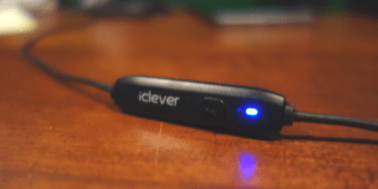iClever Bluetooth Headphones light